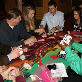 Blackjack Table at Casino Party